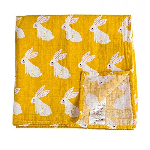 Quest Sweet Muslin Swaddle Blankets, One Pack, 48 inch x 48 inch,, Nursing Cover, Burp Cloth, Muslin Baby Blanket, Receiving Blanket ()