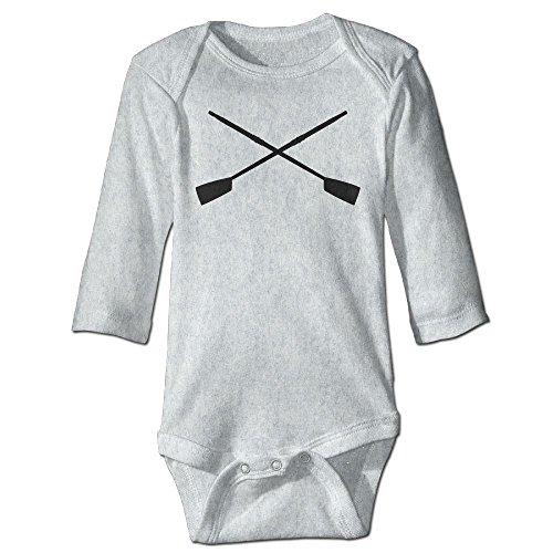 Ash Oar - Richard Unisex Infant Bodysuits Crossed Oars Cleaver, Black Baby Babysuit Long Sleeve Jumpsuit Sunsuit Outfit 12 Months Ash