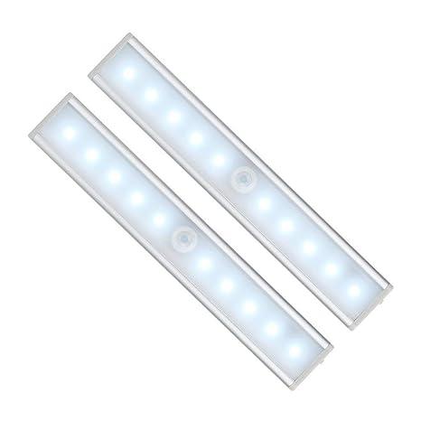 Teroys 10 LED Luces de gabinete con sensor de movimiento recargable, Luces de emergencia inalámbricas