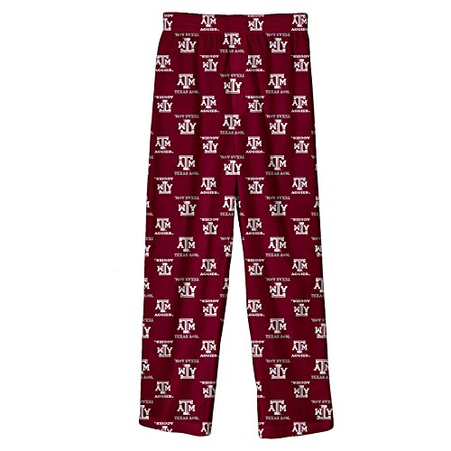 NCAA by Outerstuff NCAA Texas A&M Aggies Youth Boys Team Color Printed Pant, Maroon, Youth ()