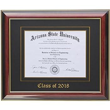 Amazon.com - Diploma Frame 14x11 Mahogany/Black 2018 (Customizable) -