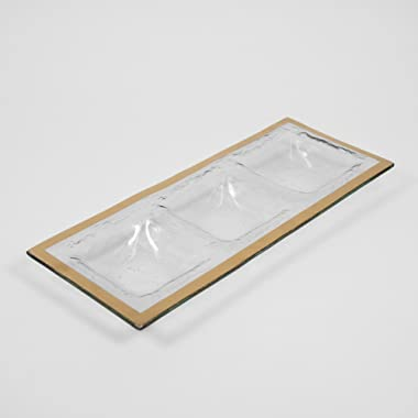 Annieglass Three-Section Tray - Roman Antique