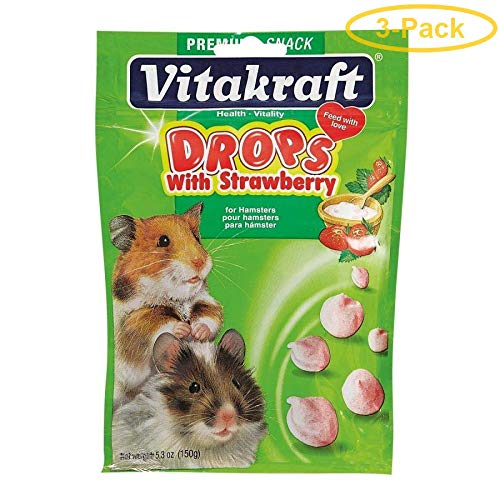 (Vitakraft Drops with Strawberry for Hamsters 5.3 oz - Pack of 3)