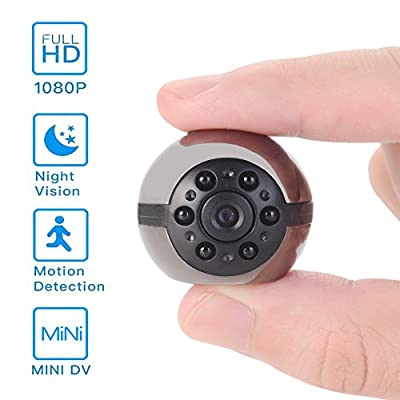 Hidden Mini Camera, 1080P/720P Pocket Security Spy Camera Night Vision Motion Detection Nanny Cam Home surveillance by Luckmall