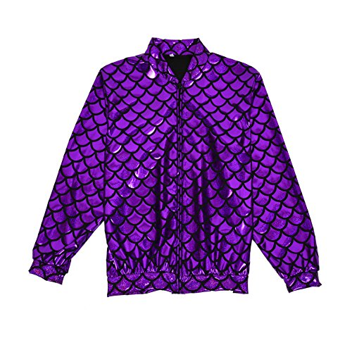 Scale Lightweight Men Bomber Gold One Silver Shiny BFD Fit Women Jacket Purple Slim Metallic TWO05Wwq
