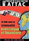 En finir avec la criminalité économique et financière par Alt