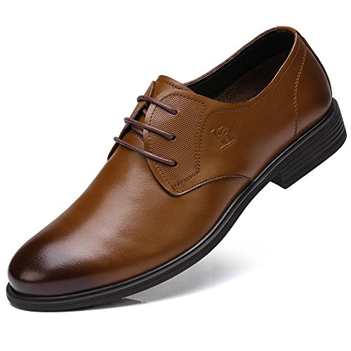 Camel Classic Men's Super Soft Calfskin Leather Oxford Dress Shoes Lace up Leather Lined Perforated Tuxedo Shoes by CAMEL CROWN