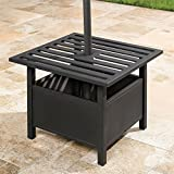 BrylaneHome Umbrella Stand Side Table (Oil Rubbed Bronze)