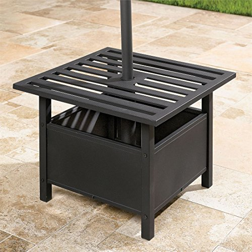 Brylanehome Umbrella Stand Side Table (Oil Rubbed Bronze) (Table Umbrella Side)