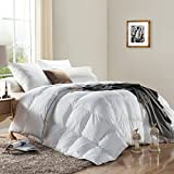 100 down duvet insert - WENERSI Premium Down Comforter Twin Size,Duvet Insert 600TC - 100% Cotton Cover with ULTRA FRESH Treatment, 700+ Fill Power,White Solid