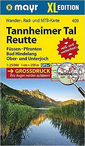 Tannheimer Tal Karte.Mayr Wander Und Bikekarte Reutte Tannheimer Tal 1 25 000