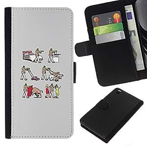 All Phone Most Case / Oferta Especial Cáscara Funda de cuero Monedero Cubierta de proteccion Caso / Wallet Case for HTC DESIRE 816 // Frankenwalk - Funny