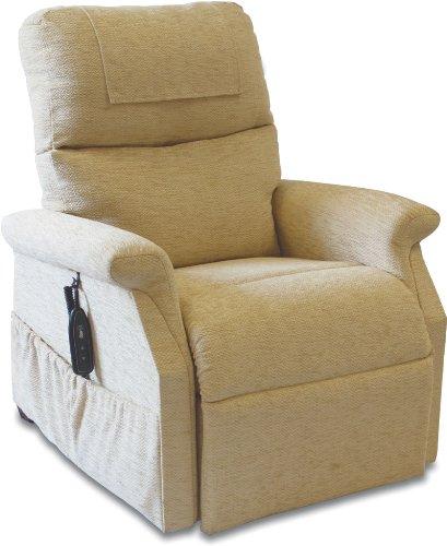 Klassische Sessel mit Aufstehhilfe (Herringbone Oyster)