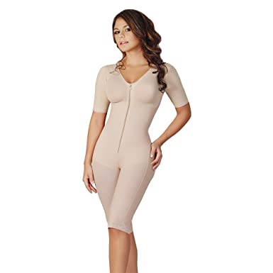 44f41037e Fajas Salome Women s 0526 Liposculpture With Sleeves Bra And Holes XS Nude