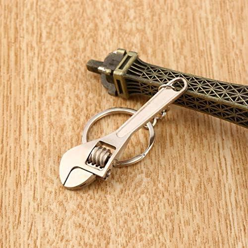多機能ミニメタルアジャスタブルクリエイティブツールレンチスパナキーチェーンリングキーリングアジャスタブルポケットツール(Rustle666)