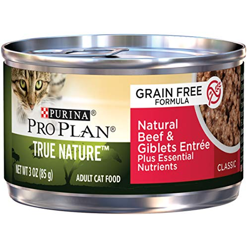 (Purina Pro Plan Natural, Grain Free Pate Wet Cat Food; TRUE NATURE Natural Beef & Giblets Entree  - (24) 3 oz. Cans)