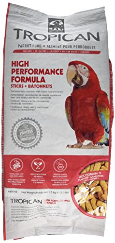 Tropican High Performance Sticks And Biscuits For Parrots (Sticks, 3.3 lb)