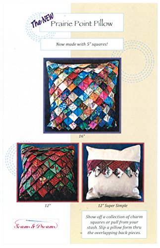 The New Prairie Point Pillow,Seams & Dreams, Charm Pack Friendly, 12