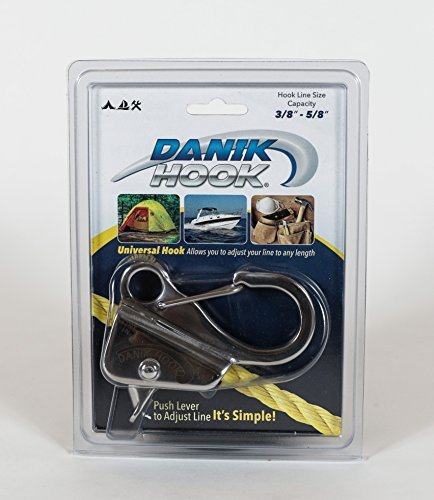 (Danik-Hook Stainless Steel– Easy to Use, Knotless Anchor System- Perfect for Boats, Wave Runners, Buoy's, RV's, Campers, and All Personal Water Crafts – Never Tie a Knott Again, 100's of Uses, Reliable and Non Scratching Holding up to 8,000 Pounds with Quick Release - Made From Solid Cast 304 Stainless Steel with a Rock Solid One-year Warranty.)