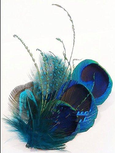 usongs Peacock feather custom bridal hairpin fashion hairpin hair trim clip Photo brooch pin badge dual-use 22 yuan (Claw Brooch)