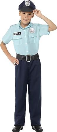 Smiffys Disfraz de niños Disfraz de Oficial de policía Mundo Libro Semana con Camisa Pantalones cinturón y Sombrero: Amazon.es: Ropa y accesorios