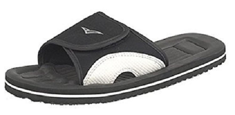 Mens PDQ Velcro Beach Flip Flops Shower Mules garden Slip Ons sandals UK 612 UK 7  Black  B073Q6TCG3
