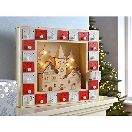Calendrier De Lavent Deco.Werchristmas Scene Eglise Calendrier De L Avent Decoration