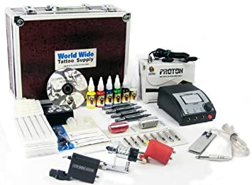 Amazon.com: TATTOO ROTARY KIT (3) Rotary Machine, Needles, Ink ...