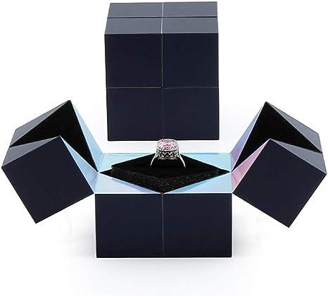 Creativo Cubo Mágico De La Caja del Anillo, Caja De Matrimonio ...