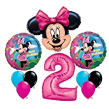 Minnie Mouse #2 2nd Second Happy Birthday Balloon Party Set Mylar Latex Disney