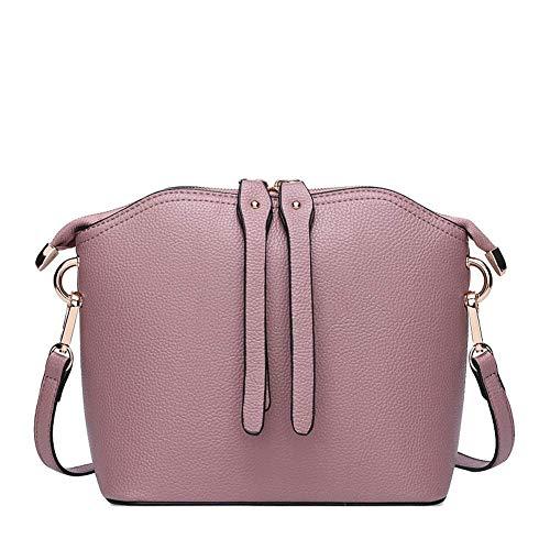 huge selection of 507a4 49c61 Mujer Simple Bolso Multicolor De Monedero Cartera Pequeña Yuny Cuero Bolsos  Para Messenger Pink Mujeres Bandolera PWq1Zz