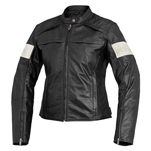 River Road Women's Twin Iron Leather Jacket - covid 19 (River Road Plain Leather coronavirus)