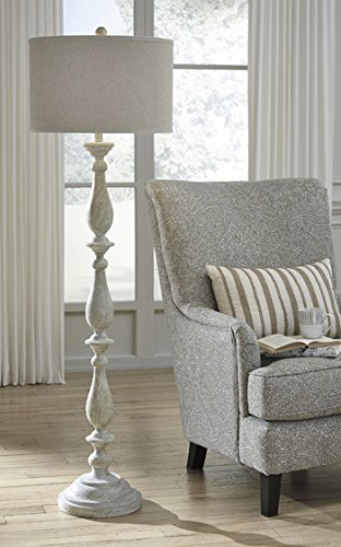 Signature Design by Ashley L235341 Bernadate Vintage Casual Poly Floor Lamp with Drum Shade, (Vintage Character Port)