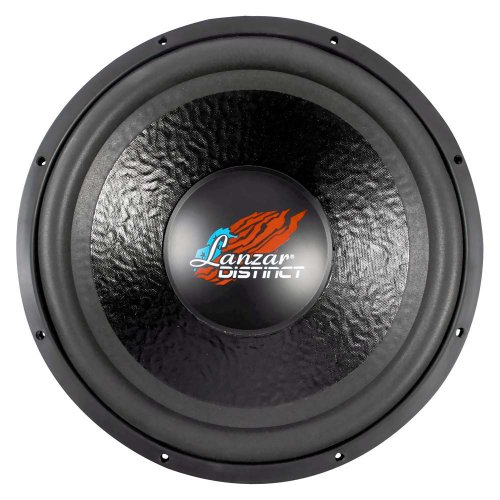 Lanzar DCT15D Distinct Series 2000-Watt 15-Inch High Power Dual 4-Ohm Voice Coil Subwoofer (Subwoofer Car Mtx 15 Inch)