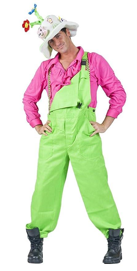 Funny Fashion Disfraz Traje Verde Fluo Adulto S: Amazon.es ...