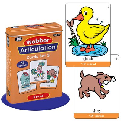 Super Duper Publications Set of 7 Webber Articulation Card Decks with Animal Artic Pairs (Combo Set 3) Educational Learning Resource for Children by Super Duper Publications (Image #4)