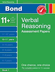 Bond Verbal Reasoning Assessment Papers 10-11+ years Book 1