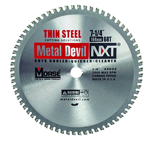 MK Morse CSM72568NTSC Metal Devil Thin Steel Cutting Circular Saw Blade, 7-1/4-Inch Diameter, 68 TPI, 5/8-Inch (Metal Devil Saw Blade)