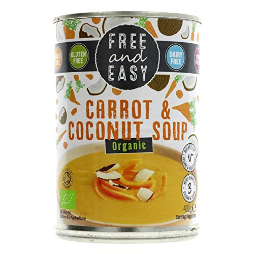 Free & Easy Organic Carrot & Coconut Soup 400g - Pack of 2