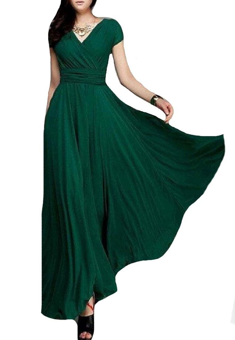 Tootless-Women Bohemian Style Chiffon Floor-Length Cocktail Dress