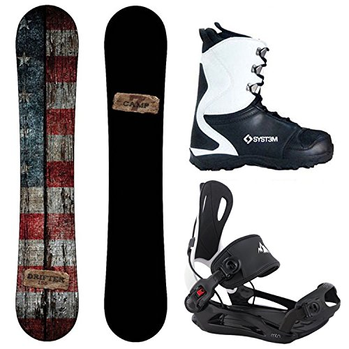 Package-Camp Seven Drifter CRCX 2018 Snowboard-159 cm-System MTN Binding Large-System 2018 APX Snowboard Boots-10