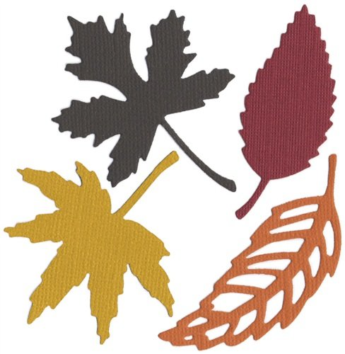 QUICKUTZ We R Memory Keepers 4-Inch by 4-Inch Die, Fall Leaves