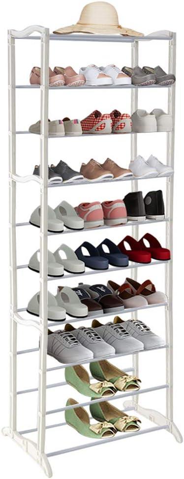 Ankleidezimmer und Flur Greensen Schuhregal mit 10 Ebenen Schuhst/änder Schuhablage Gro/ße Schuhschrank Hoch Schuhaufbewahrung Platzsparend Schuh-Lagerung f/ür Wohnzimmer Wei/ß