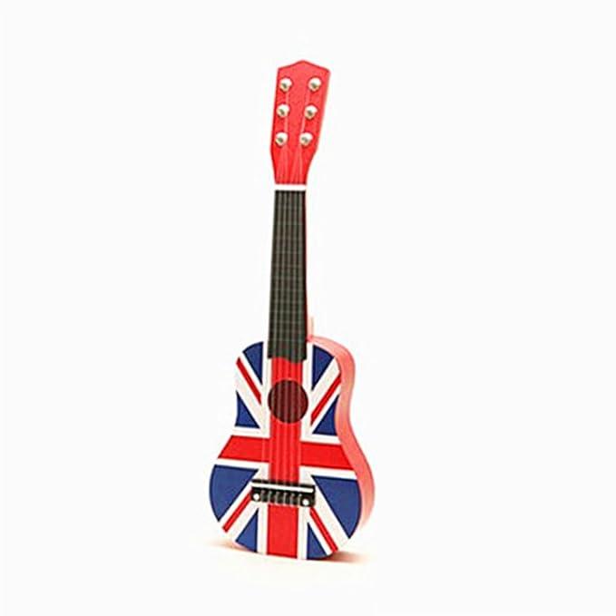 Guitarra para Niños, Mecotech 21 Pulgadas 6 Cuerdas Mini Guitarra de ...