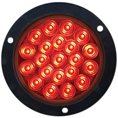 "Optronics STL55RFMBP STL55 Series 4"" Round Stop/Turn/Tail Light, Red: Automotive"