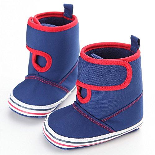 Estamico bebé high-top botas de invierno cálido marrón marrón Talla:12-18 meses azul marino
