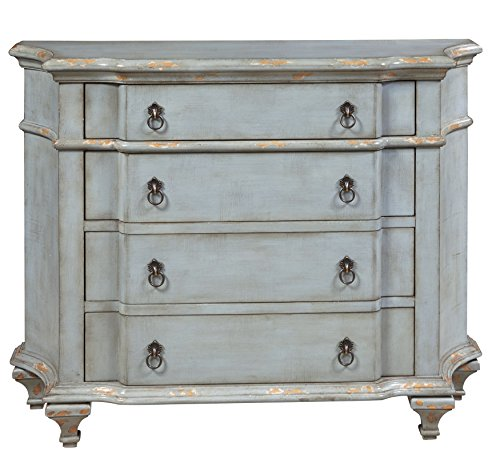 Pulaski P017009 French Accent Chest, Blue (Country Bedroom Furniture)