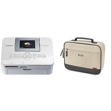 Canon Selphy Cp1000 - Impresora fotográfica + Canon DCC-CP2 - Maletin para Canon SELPHY, blanco y negro