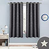 Cheap RYB HOME Kids Star Blackout Curtains Panels Decor (52″ Wide by 63″ Long, Grey, 1 Pair) Twinkle Star Foil Printed Room Darkening/Magical Fairy Thermal Insulated Drapes for Boys & Girls Bedroom