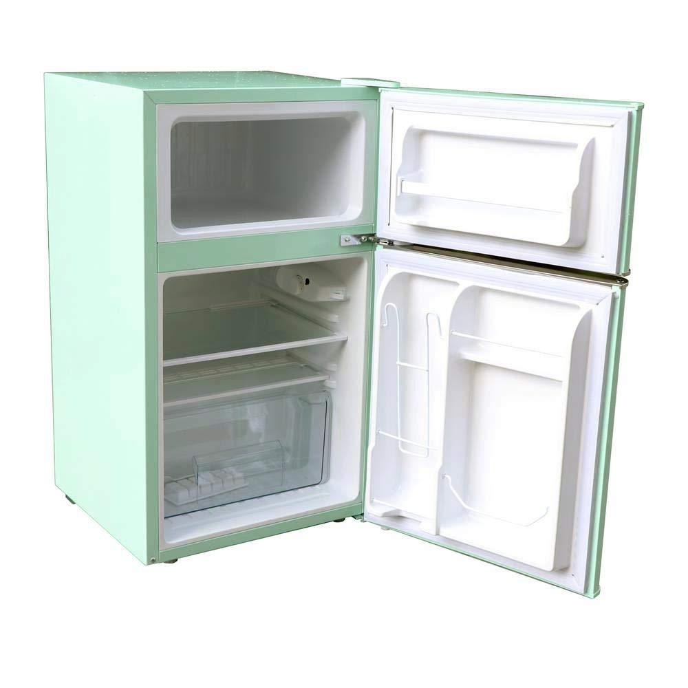02e9c5837c2 Amazon.com  Magic Chef Retro Mini Refrigerator 3.2 cu. ft. 2-Door Fridge in  Mint Green  Appliances